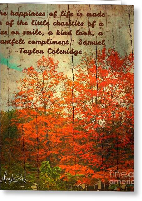 The Happiness Of Life By Taylor Coleridge Greeting Card