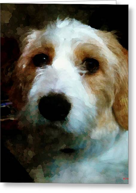 Their Dog Greeting Card by Margaret Wingstedt