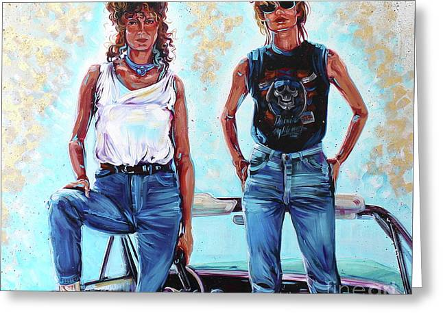 Thelma And Louise Greeting Card by Kelly Boyett