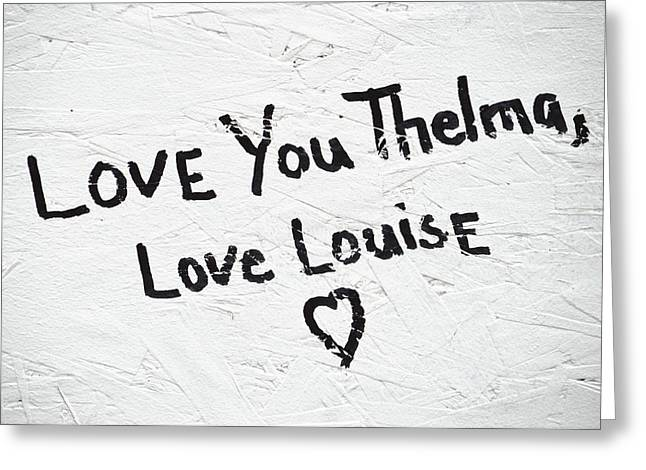 Thelma and louise greeting cards fine art america thelma and louise greeting card bookmarktalkfo Images