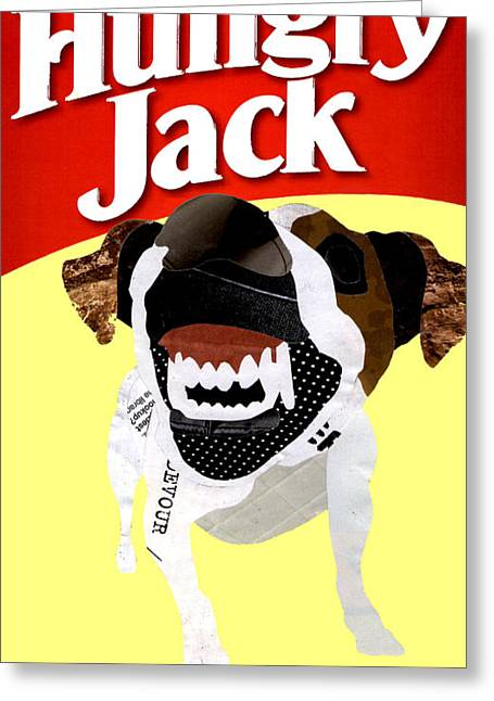 Them Hungry Jack Terriers Greeting Card by Nicholas Tullis