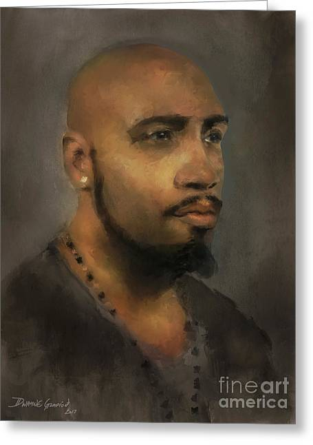 Greeting Card featuring the digital art T. Wilson by Dwayne Glapion