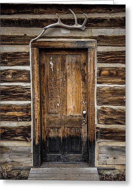 Theodore Roosevelt Cabin Door Greeting Card