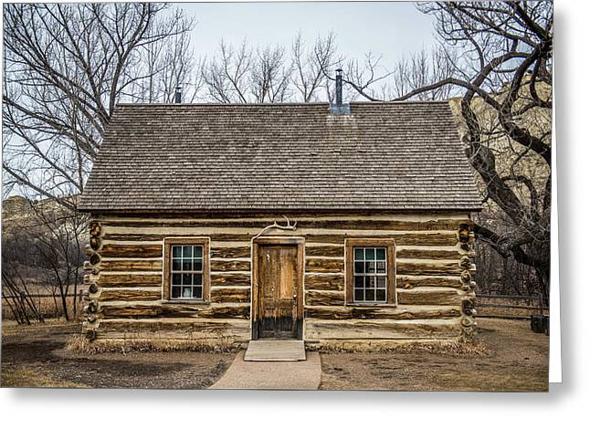 Theodore Roosevelt Cabin Greeting Card