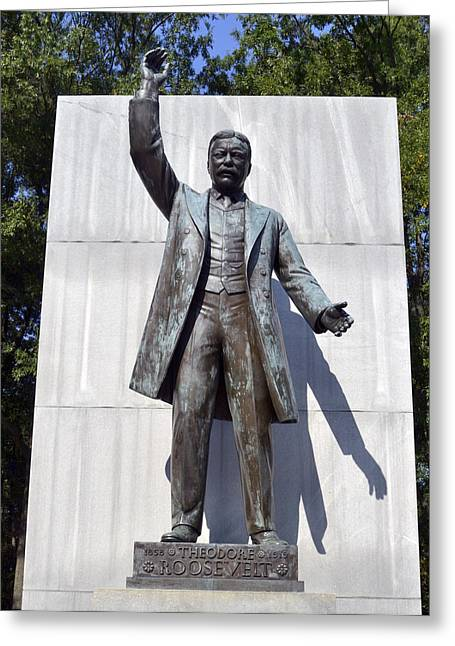 Theodore Roosevelt Island - Memorial Statue Greeting Card
