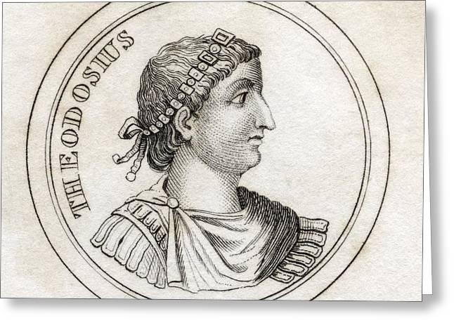 Theodosius The Great Flavius Theodosius Greeting Card by Vintage Design Pics