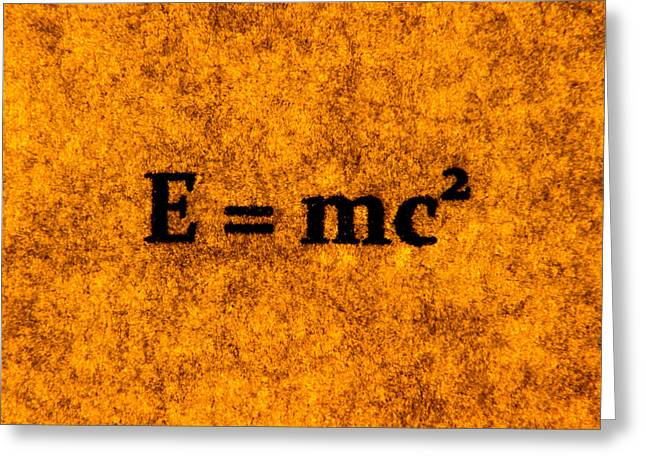 Theory Of Relativity 2 Greeting Card by Lubos Kavka