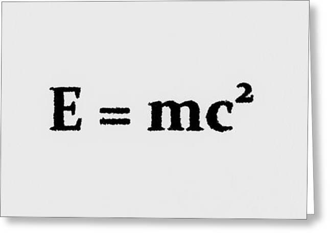 Theory Of Relativity B 3 Greeting Card by Lubos Kavka