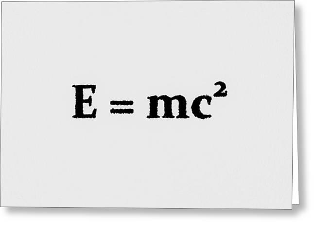 Theory Of Relativity B Greeting Card by Lubos Kavka