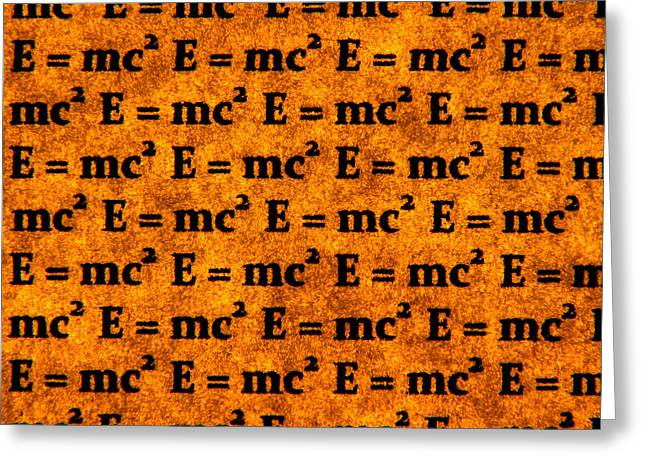 Theory Of Relativity Greeting Card by Lubos Kavka