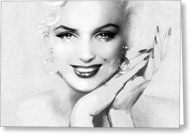 Theo's Marilyn 133 Bw Greeting Card