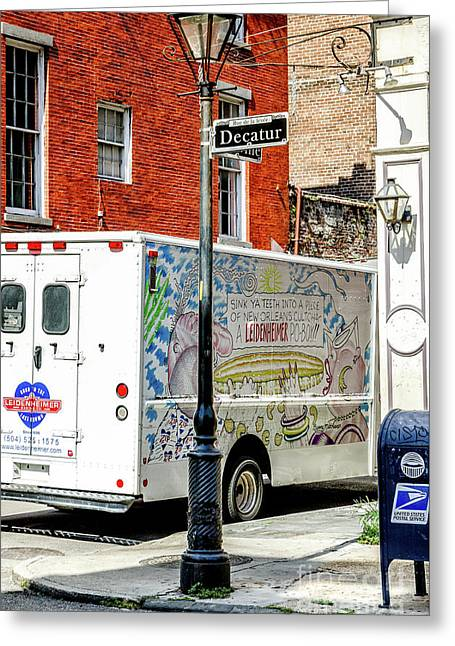 There Goes That Leidenheimer Truck Again- Nola Greeting Card by Kathleen K Parker