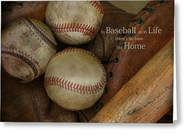 Greeting Card featuring the photograph There Is No Base Like Home by Robin-lee Vieira