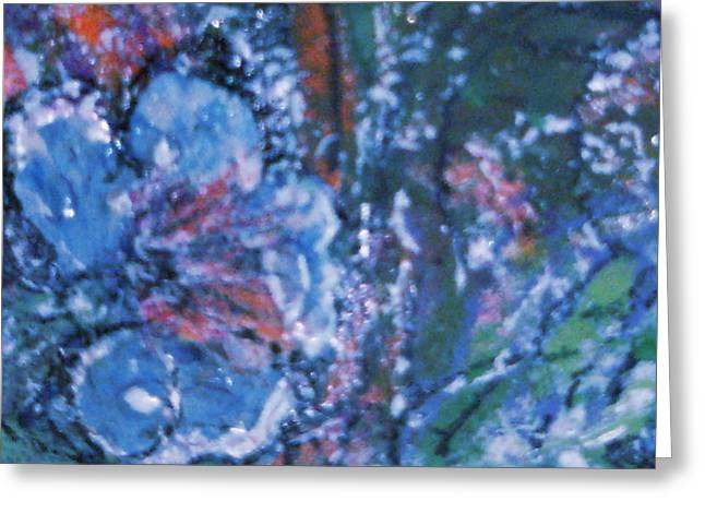 There Is Nothing Wrong With Having The Blues Greeting Card by Anne-Elizabeth Whiteway