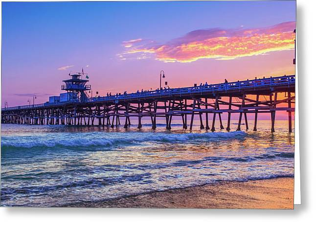 There Will Be Another One - San Clemente Pier Sunset Greeting Card