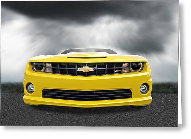 There's A Storm Coming - Camaro Ss Greeting Card by Gill Billington
