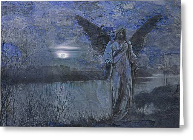 There's An Angel Greeting Card by Joachim G Pinkawa