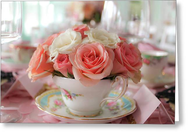 Teacup Roses Greeting Card