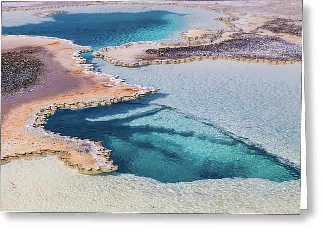 Greeting Card featuring the photograph Thermal Pool At Yellowstone by Lon Dittrick
