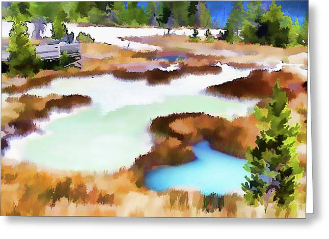 Thermal Pools, West Thumb Ynp Greeting Card by Greg Sigrist