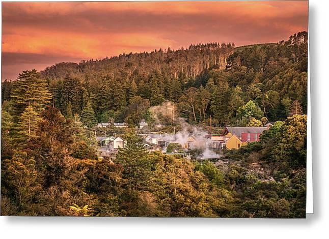 Thermal Village Rotorua Greeting Card