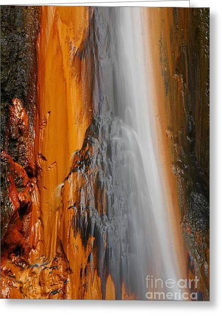 Thermal Waterfall Greeting Card by Gaspar Avila