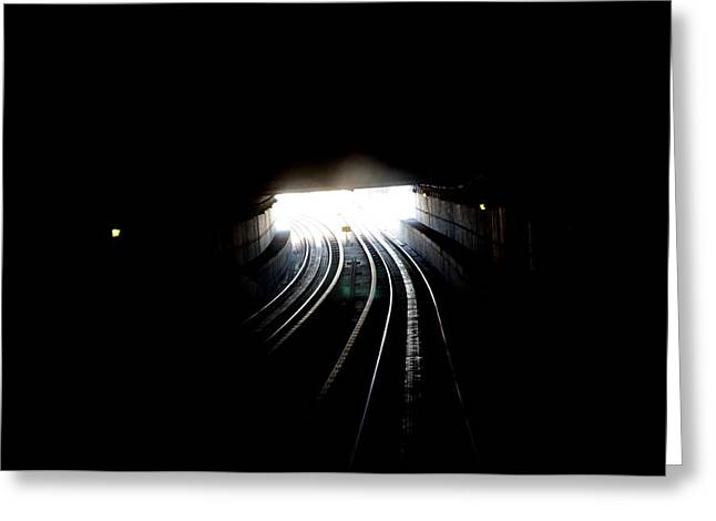 Therz Always Light At The End Of The Tunnel Greeting Card by Sateesh Challa