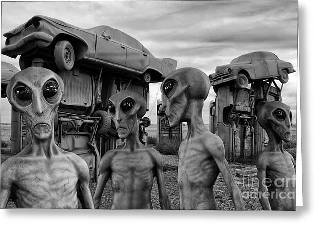 Aliens And Ufo 8 Greeting Card