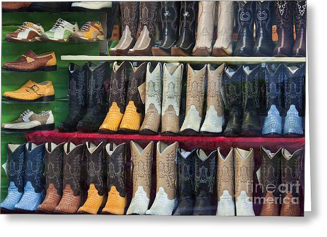 These Boots Are Made For Walkin'... Greeting Card by Mark Hendrickson