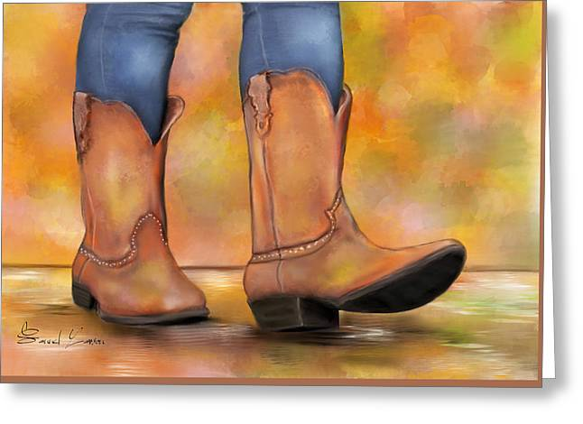 These Boots Are Made For Walkin  Greeting Card