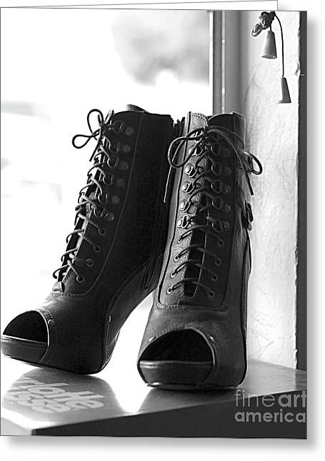 These Boots Greeting Card by Telitha Johnson