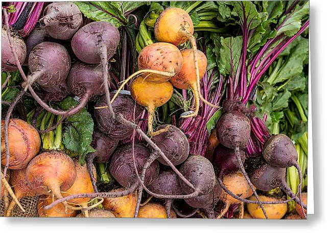 These Can't Be Beet Greeting Card by Peter Tellone