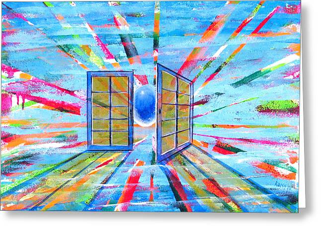 These Open Doors Greeting Card by Rollin Kocsis