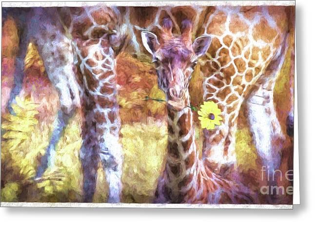 The Whimsical Giraffe  Greeting Card