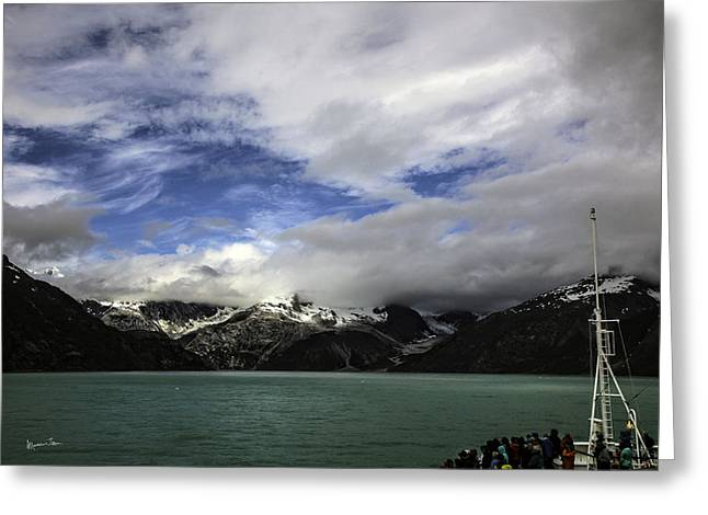 They Came To See The Glacier Greeting Card by Madeline Ellis