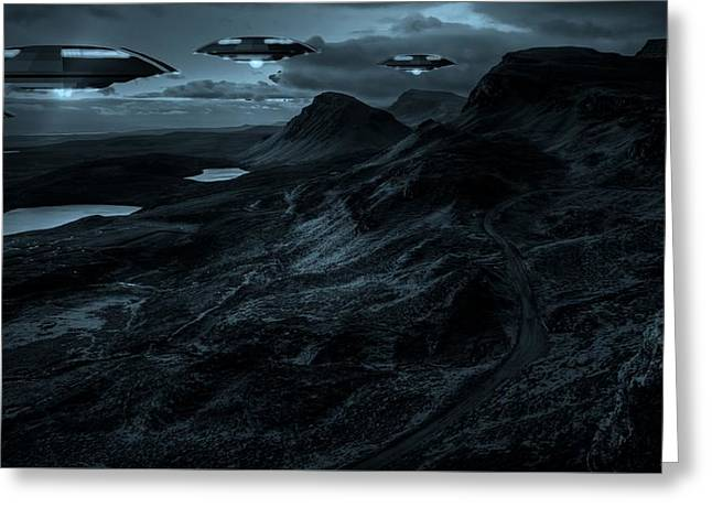 They Come In The Night By Raphael Terra Greeting Card by Raphael Terra
