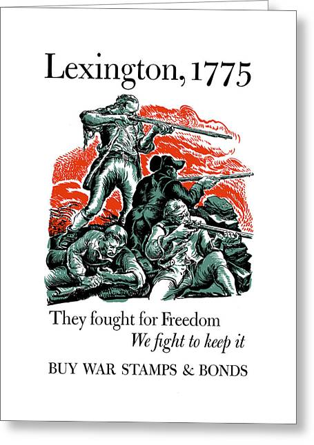 They Fought For Freedom - We Fight To Keep It Greeting Card by War Is Hell Store