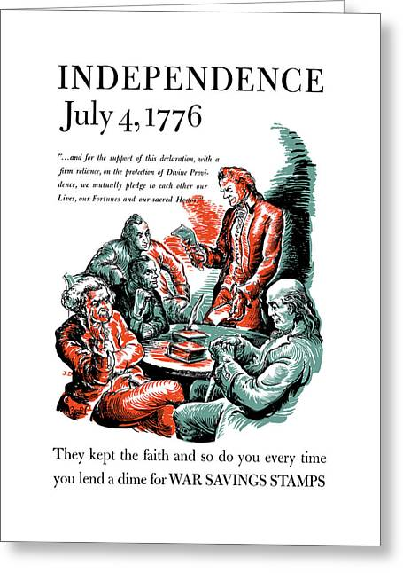 They Kept The Faith - Ww2 Greeting Card
