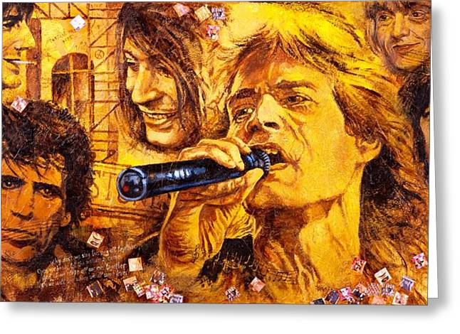Mick Jagger Poster Greeting Cards - They Rock Greeting Card by Igor Postash