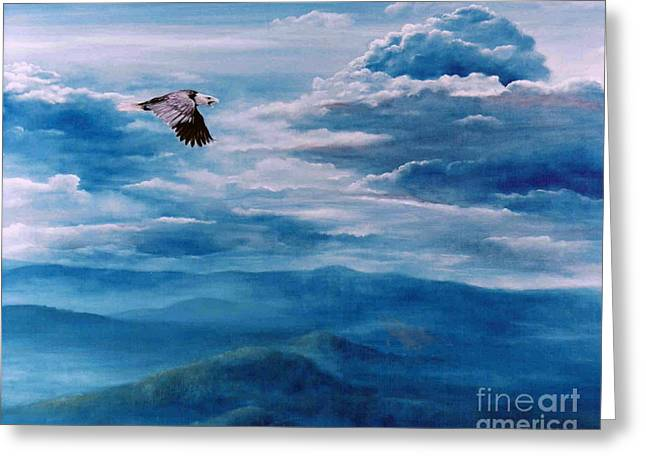 They Shall Mount Up On Wings Of Eagles Greeting Card by Ann  Cockerill