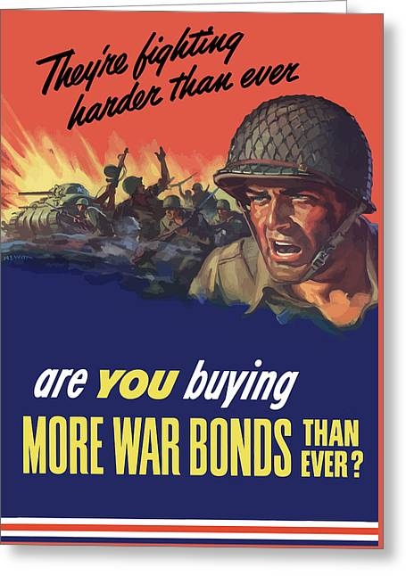 They're Fighting Harder Than Ever Greeting Card by War Is Hell Store
