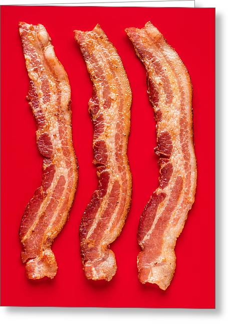 Thick Cut Bacon Served Up Greeting Card by Steve Gadomski