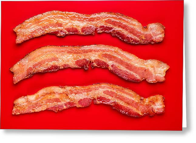 Thick Cut Bacon Greeting Card