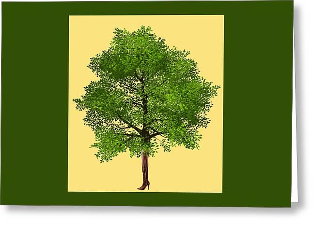 Thigh High Tree Greeting Card by Goddess Tasha