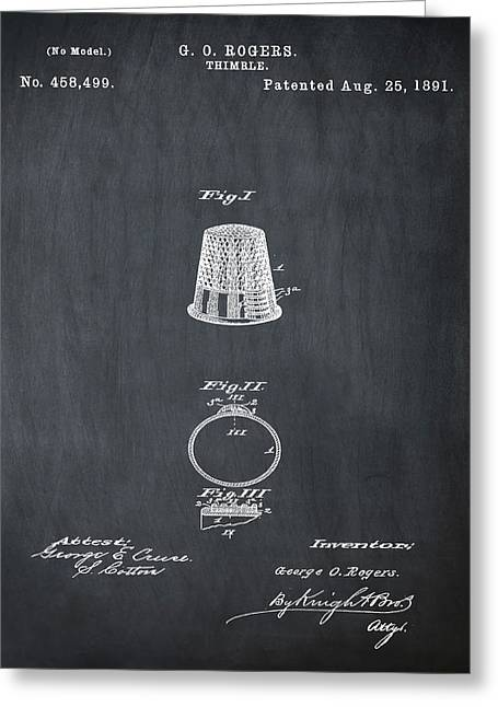 Thimble Patent 1891 In Chalk Greeting Card