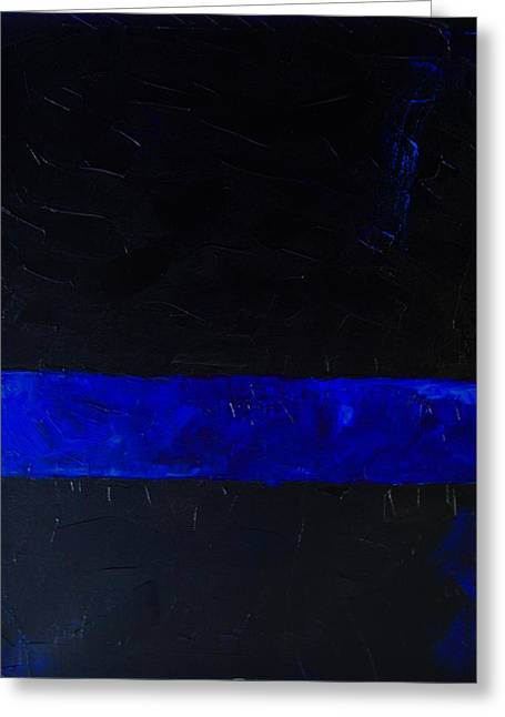 Thin Blue Line Greeting Card