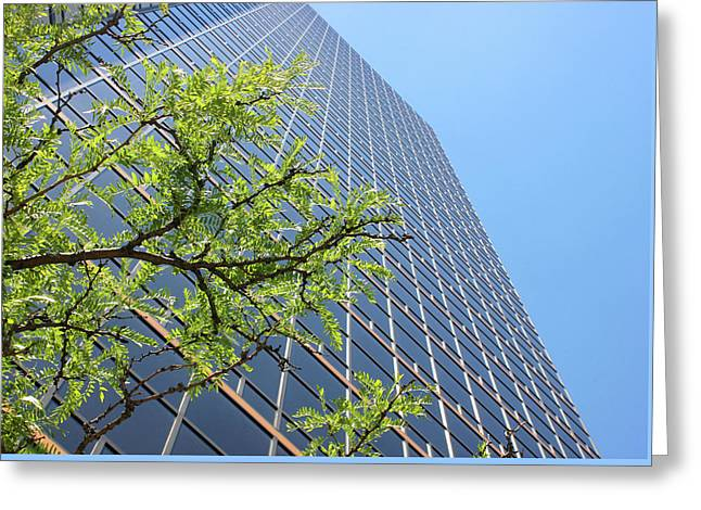 Things Are Looking Up Version 2 Southfield Michigan Town Center Building Perspective Greeting Card by Design Turnpike