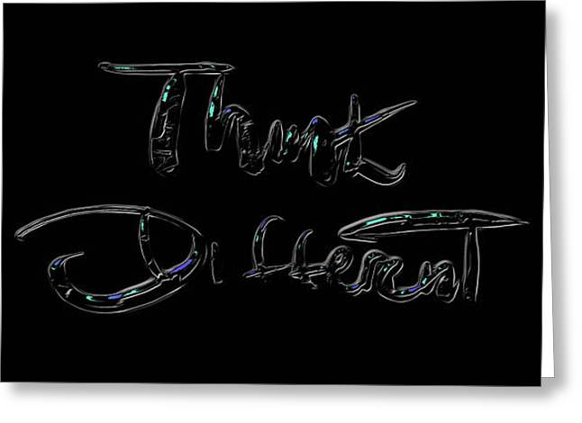 Think Different 1a Greeting Card