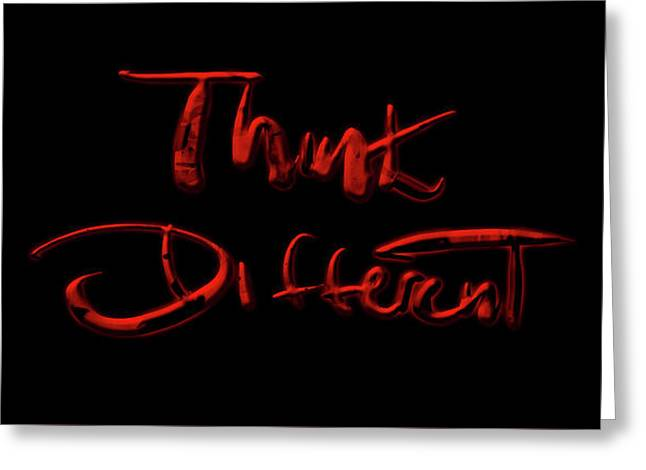 Think Different 1f Greeting Card