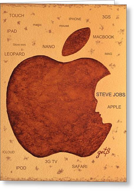 Think Different Steve Jobs  Greeting Card